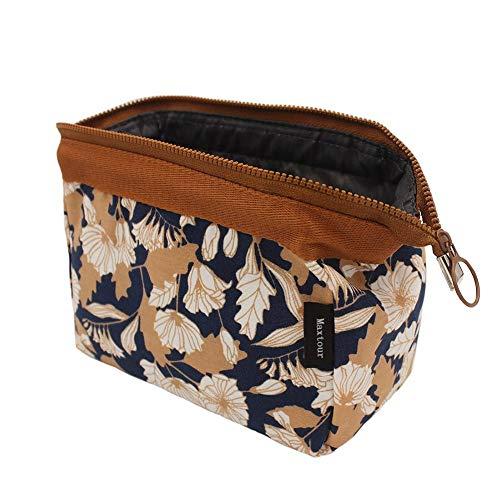 WayOuter Make-up Taschen Kosmetiktasche Reise Kosmetiktasche Frauen Portable Make Up Pouch (Blume) (Niedliche Make-up-taschen)