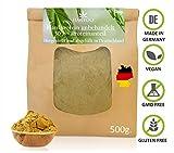 Hanfprotein -Pulver aus Deutschland 500g. - 30% Proteinanteil - ohne Zusätze - Hanfsamenprotein - Vegan - Ideal zum Backen als Hanf-samen-mehl - Low Carb - Rohkost