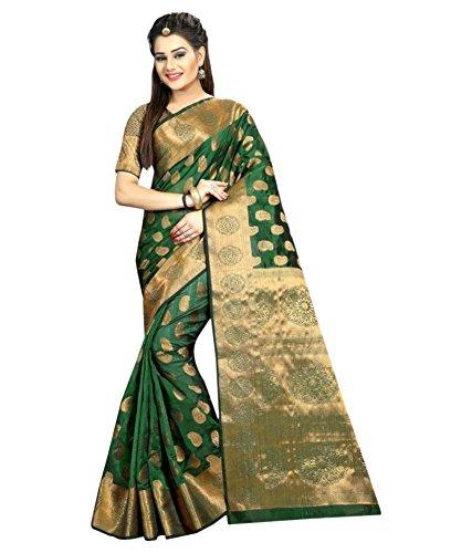 Silk Zone Women's Silk Saree With Blouse Piece (Heavysilk00094_Green)