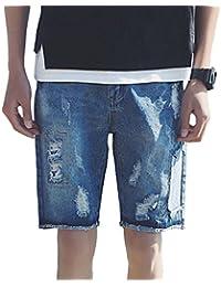 Simgahuva Mens Ropa Casual Loose Drawstrintg Playa Pantalones Cintura Elástica