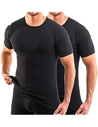 HERMKO 3840 Lot de 2 T-shirts manches courtes col rond (autres couleurs)