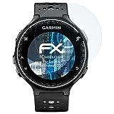 atFoliX Panzerfolie für Garmin Forerunner 230 Folie - 3 x FX-Shock-Clear stoßabsorbierende ultraklare Displayschutzfolie