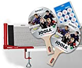 Joola Tischtennisschläger-Set: Spirit (2x) + Netz Club + Bälle Training 12er
