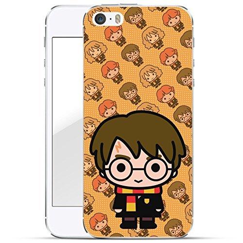Finoo   iPhone 5 / 5S Hard Case Handy-Hülle Harry Potter Motiv   dünne stoßfeste Schutz-Cover Tasche mit lizensiertem Muster   Premium Case für Dein Smartphone  Harry Potter Chibi orange