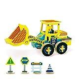Georgie Porgy Veicolo di legno della costruzione di puzzle del giocattolo dell'automobile del bambino del giocattolo 3d di legno colorato monta il mestiere (VC402 carrello elevatore freddo)