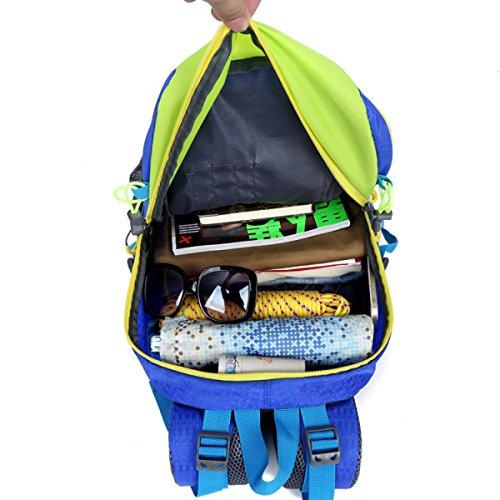 LQABW Oxford-Tuch Schulter Männer Und Frauen Reise Bergsteigen Wasserdichten Outdoor-Rucksack Polyester-Tasche 40L Reduzierte Black