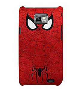Takkloo red mask ( spider, super hero, warrior, white eye mask) Printed Designer Back Case Cover for Samsung Galaxy S2 I9100 :: Samsung I9100 Galaxy S Ii