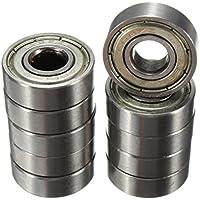 Rodamientos de bolas - SODIAL(R)10pcs 8 x 22 x 7 mm ruedas de lamina de rodamientos de monopatin de moto ABEC-5 608ZZ