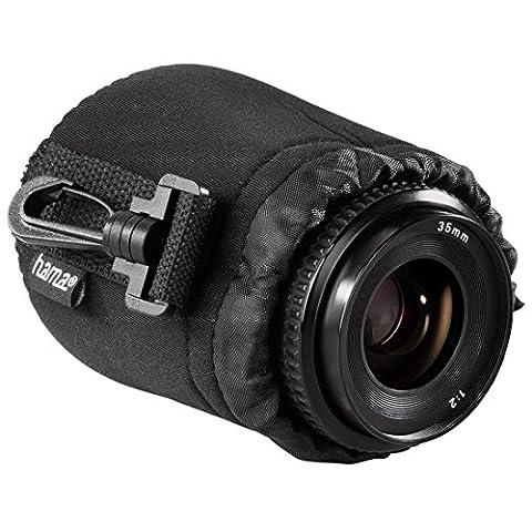 Hama Objektivbeutel, Neopren, Größe S, u.a. passend für Objektive von Herstellern wie Nikon, Canon, Olympus, Panasonic, Sony, Sigma, Tamron, Leica