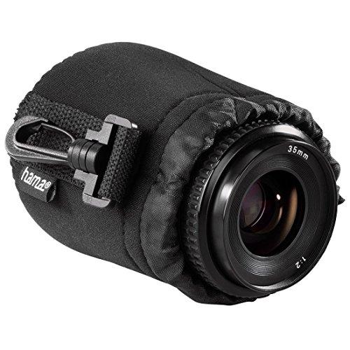 Hama Objektivbeutel, Neopren, Größe S, u.a. passend für Objektive von Herstellern wie Nikon, Canon, Olympus, Panasonic, Sony, Sigma, Tamron, Leica etc.