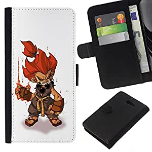 Supergiant (Fire Hair Hero Character Game Pc Gaming) Dessin PU cuir Wallet style Skin Cas Case Coque étui de protection Pour Sony Xperia M2 / M2 dual