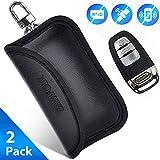 SAMFOLK Mini Faraday Bag for Car Keys [2019 NEW] Car key Signal Blocker Case, (2 PACK) Faraday Cage Keyless Entry Key Fob Pouch, Car RFID Key Security Accessories