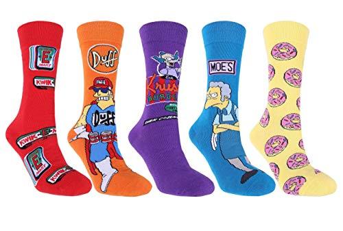 5x calcetines colores hombre Simpson 39/42