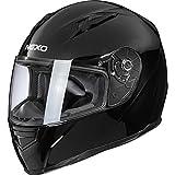Nexo Motorradhelm Basic II, Integralhelm, herausnehmbares Komfortpolster, große mehrfache Be- und...