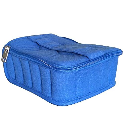 Sac de Rangement pour 5ml 10ml 15ml Bouteille d'Huile Essentielle Storage,30 Compartiments,Bleu