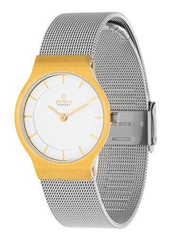 Obaku Slim Line Mujer Reloj De Pulsera Bicolor Milan Eise v133lxgimc 1