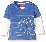 s.Oliver Baby-Jungen Langarmshirt T-Shirt Langarm, Blau (Blue Melange 55w0), 86