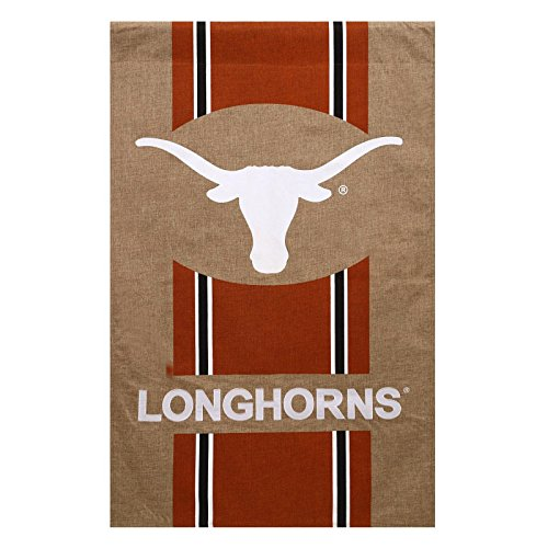 Evergreen NCAA/NFL/NHL Jute Garten Flagge, Texas Longhorns (Texas Longhorn Dekorationen)
