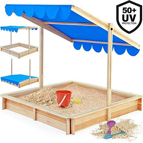 Deuba Sandkasten mit höhenverstellbaren Dach Modellauswahl UV-Schutz >50