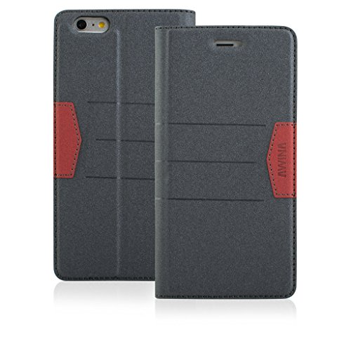 Price comparison product image Top Quality Apple iphone 6 plus Case cover,  Apple iPhone 6 plus Grey Designer Style Wallet Case Cover