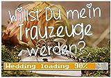 Puzzle-Botschaft eckig ~ Willst Du mein Trauzeuge werden - Wedding loading ~ (zur Hochzeit) 120 Teile 27x18cm inkl. Geschenk-Beutel ~ WB wohn trends®