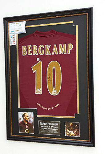 RARE-Dennis-Bergkamp-of-Arsenal-Signed-Shirt-LAST-GAME-AT-HIGHBURY-DISPLAY