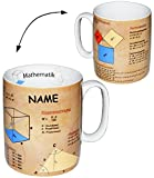 alles-meine.de GmbH Henkeltasse -  Mathematik - Daten & Fakten  - Incl. Name - groß - 460 ml - P..