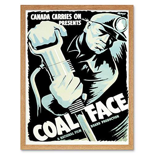 Wee Blue Coo LTD Movie Film Coal Face Canada War Drama Short Miner Mine Wwii Art Print Framed Poster Wall Decor Kunstdruck Poster Wand-Dekor-12X16 Zoll (Wars Miner)