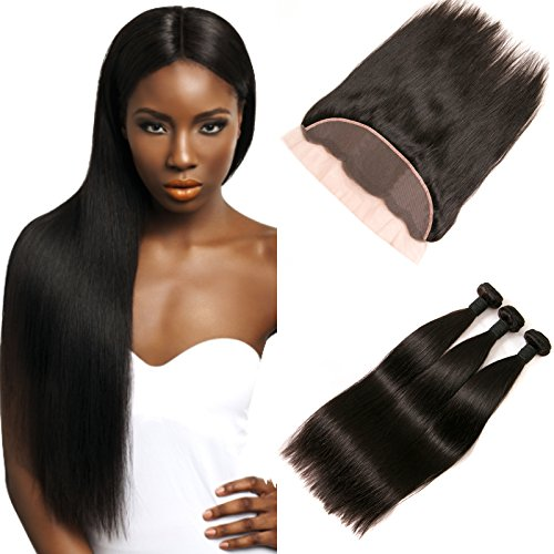 DAIMER Ear to Ear Frontal Lace Closure 4x13 Free Part Brazilian Straight...