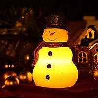 candela di Natale con timer e pile (Red Hat pupazzo di neve)