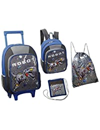 Kinder-Trolley-Set - 4-teilig - Trolley, Rucksack, Schuhbeutel, Brustbeutel