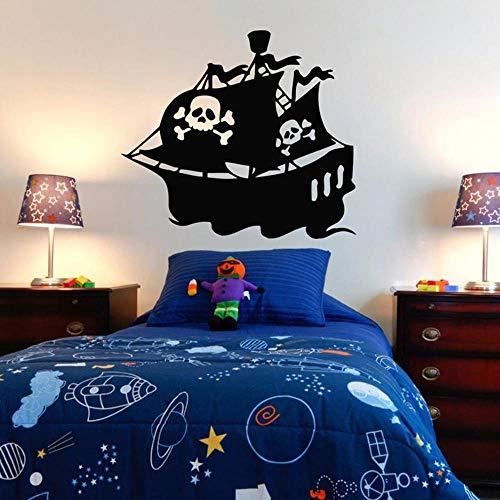 qualité parfaite États Unis meilleur choix WSYYW Bateau de Pirate Sticker Chambre Sticker Chambre de Pirate Décoration  Decal Treasure Vinyl Mural Enfant Garçon Chambre Sticker Mural Maison ...