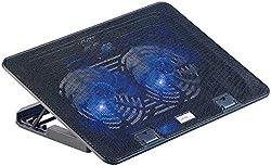 """Callstel Laptop Kühler: Ultraleiser Notebook-Kühler bis 43,8 cm (17""""), 2 Lüfter, LED, 15 dB (Laptop Cooler)"""