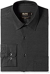 Peter England Mens Formal Shirt (8907495572505_ISF51600892_40_Black with White)