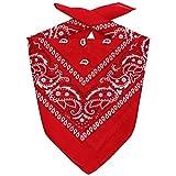 Lipodo Bandana Tuch Damen/Herren/Kinder | Kopftuch in rot aus 100% Baumwolle | Multifunktionstuch in Einheitsgröße (55 x 55 cm) | vielfältige Tragemöglichkeiten