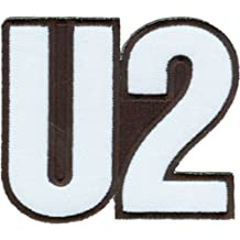 """U2 Logo, Officially Licensed Original Artwork, High Quality Iron-On / Sew-On, 3"""" x 2.2"""" Embroidered PATCH PARCHE"""