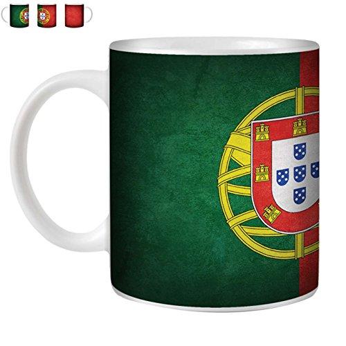 STUFF4 Tasse de Café/Thé 350ml/Portugal/portugais/Drapeaux Vintage/Céramique Blanche/ST10