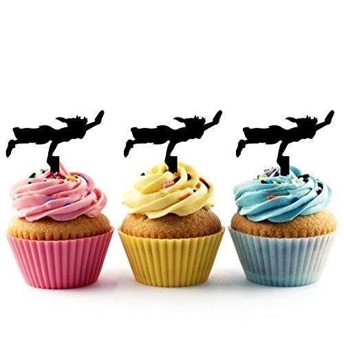 Peter Pan Kuchenaufsätze Hochzeit Geburtsta Acryl Dekor Cupcake Kuchen Topper Stand für Kuchen Party Dekoration 10 Stück