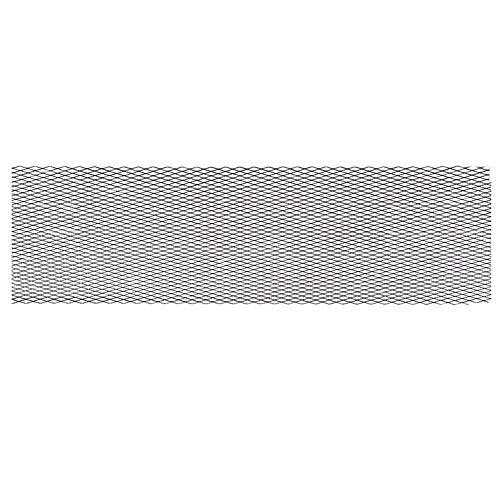 Kühlergrill Mesh Front Bumper Protector Abdeckung Karosserie Kühlergrill Net Vent Aluminiumlegierung(100x33cm,Black) - Seite Vent Kühlergrill
