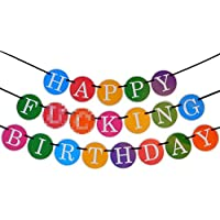 Banner Happy F***ING Birthday - Compleanno divertente – Banner21imo compleanno – 30imo compleanno - Forniture per feste di alta qualità da Sterling James Co.