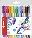 Fineliner Premium - STABILO pointMax - punta in nylon - Astuccio da 12 - Colori assortiti