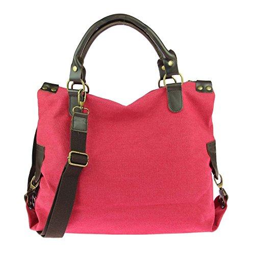 426eb253111fe OBC ital-design Stern Tasche Handtasche Leder Damentasche Canvas Baumwolle  CrossOver Schultertasche Sportliche Tasche Umhängetasche ...
