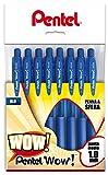 Pentel BX440 Feel-it! Wow! Sfera a scatto 1,0 mm 8 pz blu