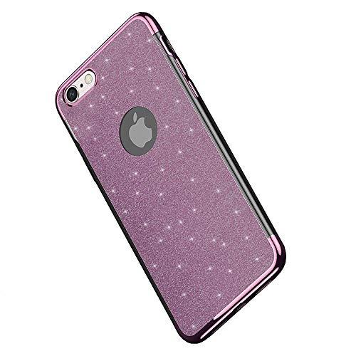 Miagon 2-1 Glitzer Hülle für {iPhone 5S SE 5},Luxus Glitzer Bling Überzug Hülle Handyhülle Slim Case Schale Leicht Dünn Schutzhülle Glänzendes