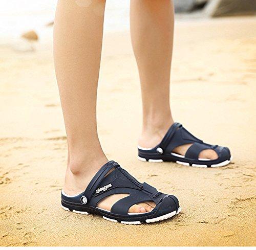 Scothen Sommer Sandale, Unisexe Hommes Garçon Chaussures de jardin Chaussures pour unisex pour adultes Chaussons de glisse Garten Pool Maultier EVA Chaussures de montagne dété Bleu