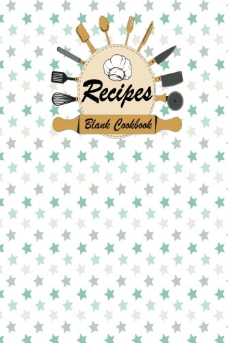 Blank Cookbook: 100 Pages, Recipes Blank Cookbook (for Food/Cooks/Chefs/Cooking/notes/Journal), 6x9 inches Cute Pastel Cover