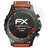 atFoliX Folie für Fossil Q Nate Displayschutzfolie - 3 x FX-Antireflex-HD hochauflösende entspiegelnde Schutzfolie