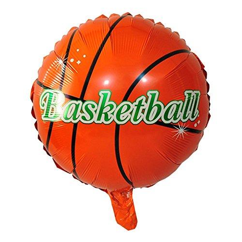 iBellete Fête d'anniversaire Décoration de célébration Basket-Ball de Volley-Ball Football Forme Aluminium Feuille Ballons Ballons à l'hélium 18 Pouces
