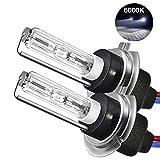 Womdee Ampoule H7 Xenon Kit, 6000K 55W, H7 Phares pour Voiture et Moto, Super Blanc, 2 H7 Ampoules