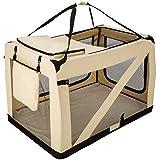 TecTake Cage Box de Transport pour Chien Chat Pliable Beige - diverses tailles au choix - ('XXXXL' | No. 401043)